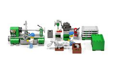 Old Machinery - Trend Lego Train 2020 Lego Factory, Lego Memes, Lego Machines, Lego Furniture, Micro Lego, Lego Pictures, Lego Craft, Lego Store, Lego Trains