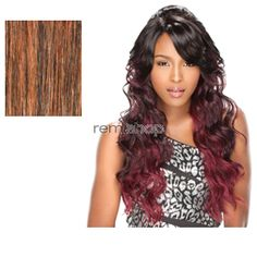 Empress Lace Front Edge Scarlet (Bump Up! Style) - Color F1B/30 - Synthetic (Curling Iron Safe) 2 Styles in 1 Lace Front Wig