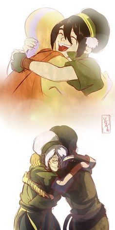 Avatar Aang and Korra with their Toph moments! Avatar Aang, Avatar Legend Of Aang, Avatar The Last Airbender Funny, The Last Avatar, Team Avatar, Avatar Airbender, Legend Of Korra, Avatar Cartoon, Avatar Funny