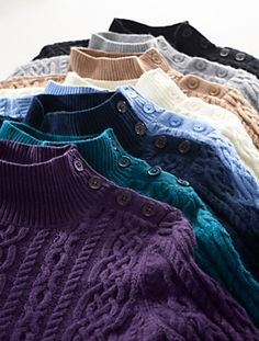 Talbots - Chunky Cable Mock-Turtleneck Sweater | Sweaters | Misses