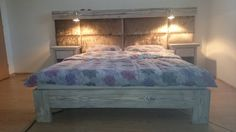 Hey, I found this really awesome Etsy listing at https://www.etsy.com/listing/207951466/double-size-bed-with-nightstands-old