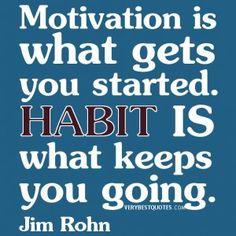 Self-improvement quotes, habit quotes, motivation quotes, Jim Rohn Quotes