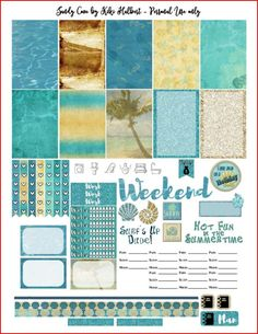 Sandy Cove Printable Stickers for The Happy Planner by KikiHalbertDesigns on Etsy