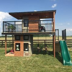 Pin for Later: This Dad Makes Luxury Playhouses Straight Out of Every Kid's Wildest Dreams