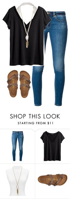 """""""3 words, 8 letters"""" by morganburleigh ❤ liked on Polyvore featuring MICHAEL Michael Kors, H&M, Kendra Scott, Birkenstock, women's clothing, women's fashion, women, female, woman and misses"""