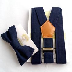 Boys Navy Braces and Bow Tie by TinaBartonDesigns on Etsy
