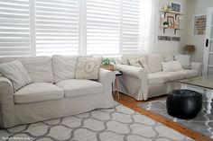 My New IKEA Ektorp Sofa Covers In Lofallet Beige
