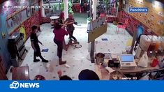 30NOV2020 16th & Valencia Panchitas grandma flips table to defend business after customer hurls hand sanitizer jugs at staff - [YouTube 1:52 ABCTV]