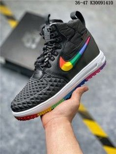 Economics Nike Lunar Force 1 Duckboot 17 KPU Triple Black Women's Men's Casual Shoes Sneakers NIKE CIU010636