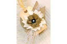 Morex Ribbon Burlap and Lace Gift Box
