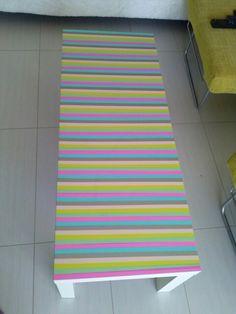 Washi tape table :-) :-)