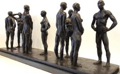 Grace da Costa 'The Spaces Between' Bronze, High South African Artists, Sculptures For Sale, Bronze Sculpture, Les Oeuvres, Costa, Spaces, Statue, Characters, Sculptures