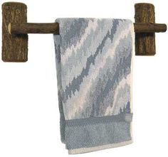 """HICKORY TOWEL BAR - This towel bar has been hand crafted from hickory wood to suit any decor. 18"""" W. Made in the USA!"""