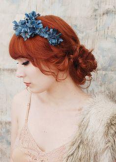 Muse - navy blue flower crown by Bellafaye, via Flickr