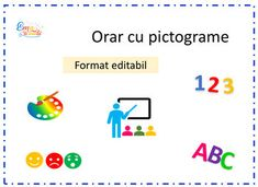 Editable Timetable in Romanian, Timetable with Images by Ema La Scoala