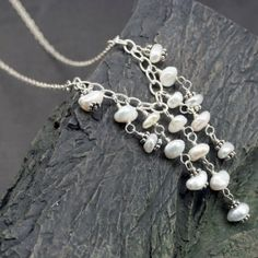 Natural Freshwater Pearl Necklace, $78- roxysjewelry.com