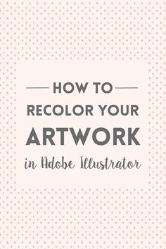 The easiest way to recolor artwork in Adobe Illustrator is by using the recolor…