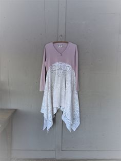 Romantic upcycled dress gypsy clothing Artsy by lillienoradrygoods