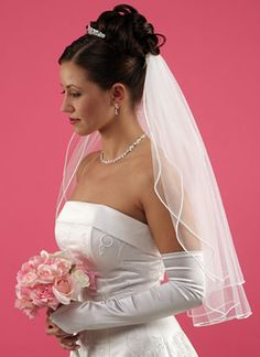 Bridal Veils | Show me! - Wedding Planning - BabyCentre I think this is what I like the best as far as hair/veil goes.