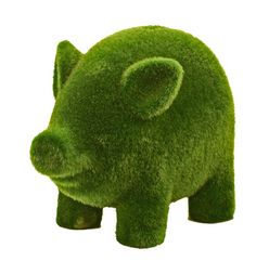Very friendly looking grass flocked Piggy Bank from Karma Kiss, featured on Fab. Cute Baby Animals, Animals And Pets, Pig Bank, This Little Piggy, Flying Pig, Flocking, Kids Toys, Cute Babies, Dinosaur Stuffed Animal