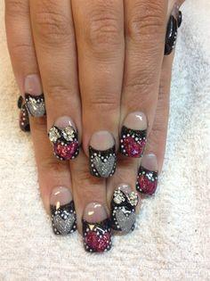 valentine nails by lasvegasnails - Nail Art Gallery nailartgallery.nailsmag.com by Nails Magazine www.nailsmag.com #nailart