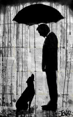 "Saatchi Online Artist Loui Jover; Drawing, ""old friends"" #art"