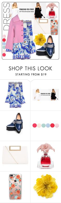 """off shoulder dress fashion"" by www-mbalenhlemm ❤ liked on Polyvore featuring Camilla, Jamie Wei Huang, Nails Inc., New Look, Agraria, Casetify, Gucci and Jil Sander"