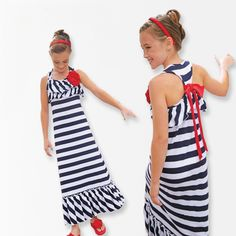 Stripped Girls Dress 2016 Summer Girl clothings Ruffles Maxi beach long Dress Bowknot Princess Children's Clothing Kids Clothes