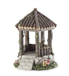 Fairy garden woodland gazebo miniature fairy gardens gorgeous diy fairy gardens that will take your breath away page 5 of 19 Fairy Tree Houses, Fairy Village, Fairy Garden Furniture, Fairy Garden Houses, Fairies Garden, Garden Gazebo, Fairy Gardening, Gnome Garden, Herb Garden