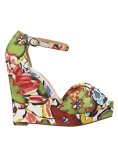 From Cosmo: Floral wedges, like Nine West LetItGo, $89, ninewest.com, add a pop of color—and pizzazz—to a white sundress.