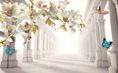 Order photo wallpaper White, wallpaper and branch for wall from biggest catalog for the best price in Europe. Image no. The assortment includes colorful photo wallpapers by the artists. Rose Gold Room Decor, Rose Gold Rooms, Kitchen Wallpaper, Home Wallpaper, Order Photos, Shops, Wallpaper Online, Wall Murals, Digital Prints