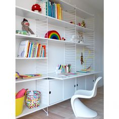 String Shelving system  The modern solution for the modern home. Perfect for your kids. Available at kidslovedesign.com