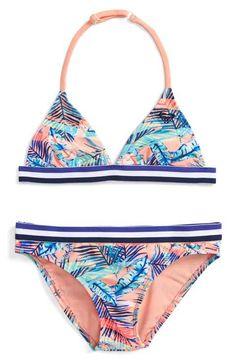 Roxy Retro Summer Two-Piece Swimsuit (Big Girls)