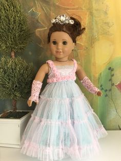A personal favorite from my Etsy shop https://www.etsy.com/listing/525446581/american-girl-custom-ooak-princess