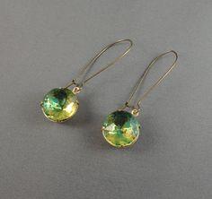 vintage lemon lime glass earrings - I like these - simple but pretty