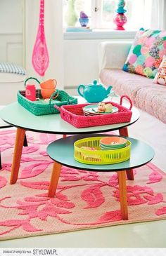 Colorful coffee tables--dig?