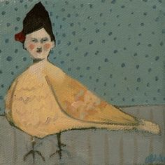 woman with a flower in her hair no  by amanda blake art via Flickr