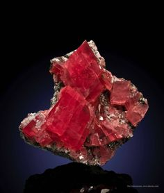 """Rhodochrosite - Strawberry Pocket, Sweet Home Mine, Alma, Park Co., Colorado, USA"" bijoux-et-mineraux"