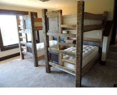 Rustic Mountain Barnwood Bunk Bed Cabin Bunk Beds Twin Bunk