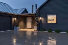 Wakatipu Basin House by Mason & Wales Architects External Cladding, Timber Cladding, Modern House Plans, Modern House Design, Modern Barn, Modern Farmhouse, Front Door Entrance, Entry Doors, Doorway