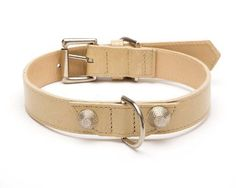 Balencioochee-Straight-Dog-Collar-Rivets-Extra-Large-Size-17-22-Bone-with
