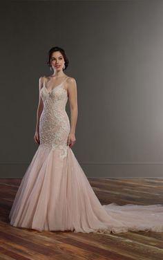 852 Heavily Beaded Mermaid Wedding Dress by Martina Liana
