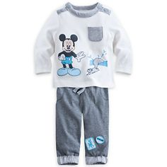 Mickey Mouse Top and Pants Set for Baby