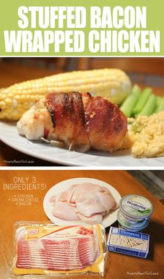 Oh, for the love of bacon! Just chive cream cheese, bacon and chicken. So easy!