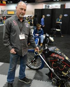 Tim Banks and his Marine Corps Custom Bike as seen at the Indianapolis Dealer Expo in February 2013
