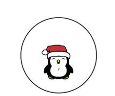 Christmas Cross Stitch Pattern Penguin Holiday by CrossStitchDiva