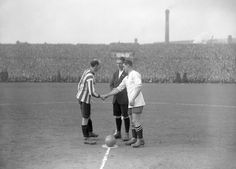 "Sheffield United's William ""Billy"" Gillespie & Bolton Wanderers' John Reid Smith in the FA Cup Semi Final,1923."