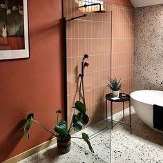 Warm Colors, Colours, Mandarin Stone, Orange Bathrooms, Limestone Flooring, Decorative Tile, Stone Tiles, Bathroom Inspiration, Bathroom Ideas