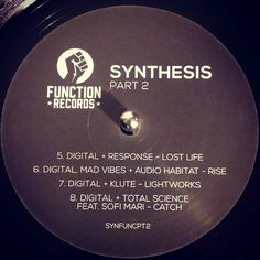 #nowspinning Digital - Synthesis Part 2. Function: SYNFUNCPT2 (2016). Plate 2 has some killer clown tracks but at this current moment I'm having maximum feels from Digital  Response - Lost Life. Heavy and hard stepper from the edge but then almost instantly you are are so awash in chords it's almost suffocating. Like trying to swim through jelly. But it is all good. I'm all set with that but after the breakdown you are treated to some  lovely ragga stabs inside the ride. But then the chords…