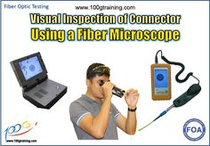 It is important to do a visual inspection of connector because you want to make sure the end face of the connector is good and there is no dirt or scratches on the core of the optical fiber.  Do this by using a hand held or video fiber microscope to look at connector ends for contamination and damage such as dirt, oil, scratches and epoxy.  All connectors--even brand new jumpers with a factory finish--should be cleaned prior to mating. Fiber Optic, Jumpers, Epoxy, Core, Train, Jumper, Synthetic Resin